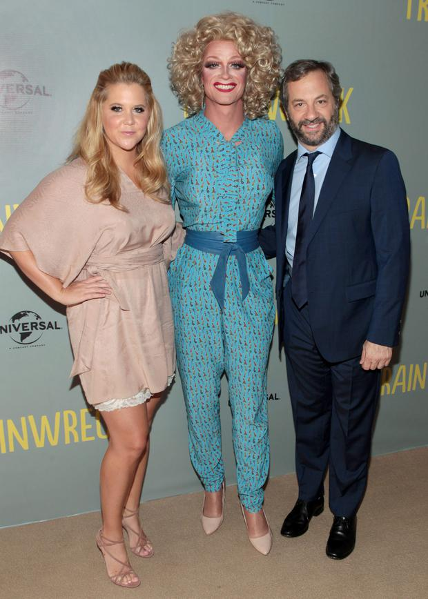 Amy Schumer with Panti Bliss and Judd Apatow in Dublin
