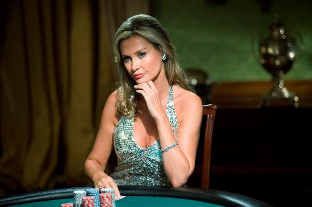 PLAYING HER CARDS: Former Bond girl Alison Doody would like to write a book