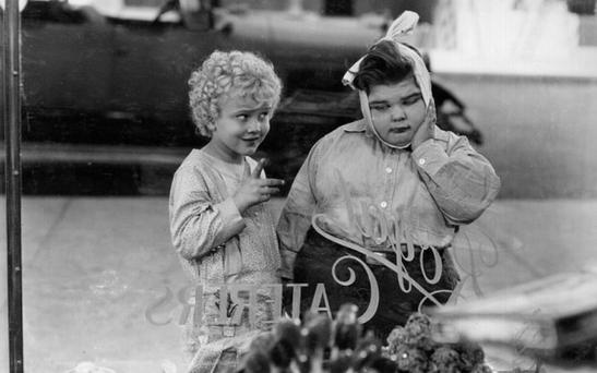 CHILD STAR: Jean Darling and Joe Cobb in 'Noisy Noises', an 'Our Gang' comedy.