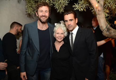 Actors Chris O'Dowd, Fionnula Flanagan and Colin Farrell at the Irish Film Board and IDA pre-Oscars party in Hollywood. Photo: Michael Kovac/Getty Images for Irish Film Board