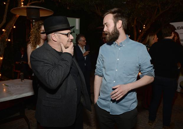 Above: Director Lenny Abrahamson and screenwriter Benjamin Cleary. Photo: Michael Kovac/Getty Images for Irish Film Board