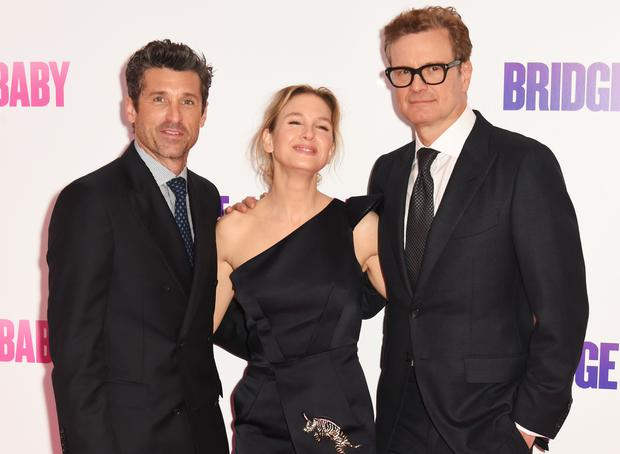 Patrick Dempsey, Renee Zellweger and Colin Firth attend the World Premiere of