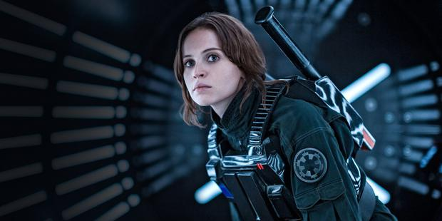 Felicity Jones who plays Mads Mikkelsen's daugther in 'Rogue One'