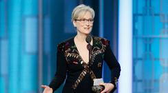 Golden moment: Meryl Streep delivered a masterclass in speech making at the Golden Globes ceremony without even naming names