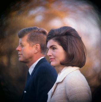 Creating the legend of Camelot: President John Fitzgerald Kennedy and Jacqueline ready for one of the many gatherings at the White House
