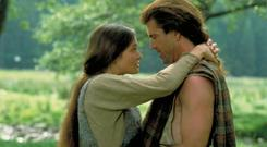 Heart of gold: Catherine McCormack and Mel Gibson in Braveheart, filmed in Co Wicklow