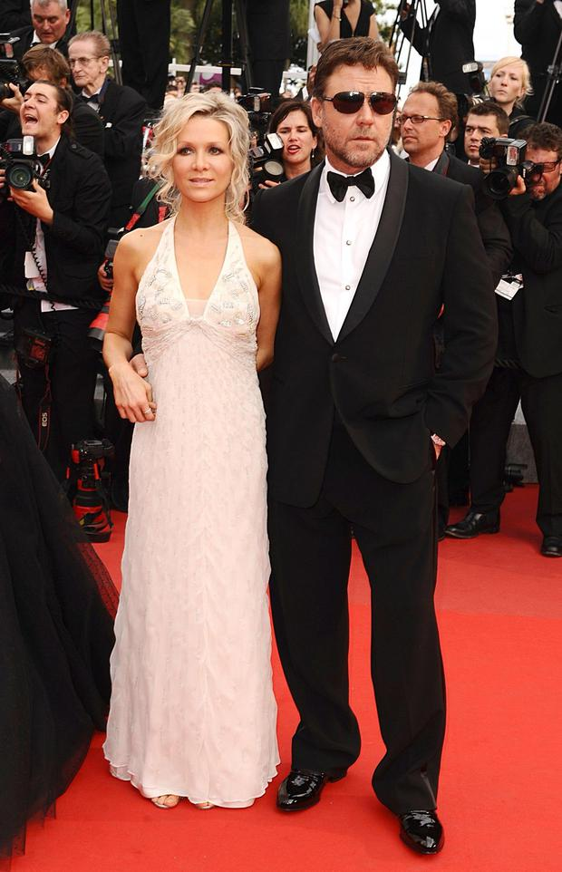 Russell Crowe and his former wife Danielle Spencer Photo: PA