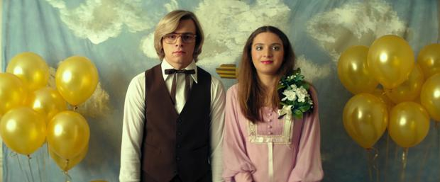 Ross Lynch as Jeffrey Dahmer and Sydney Jane Meyer as his prom date Bridget