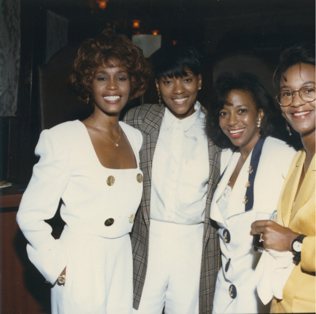Whitney with her friend Robyn and other pals