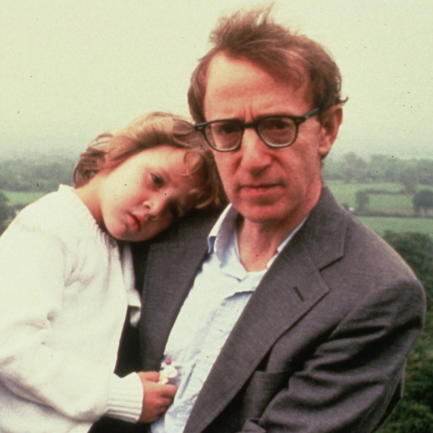 Woody Allen with his daughter Dylan in 1991. Photo: Getty Images