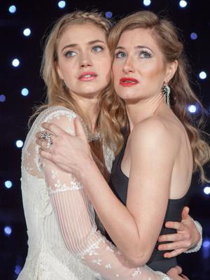 Imogen Poots (left) and Kathryn Hahn star in Peter Bogdanovich's star-studded comedy.