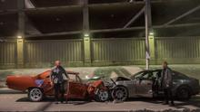 Cars, explostion and testosterone: Vin Diesel and Jason Statham in the pleasantly self-parodying Fast and Furious 7