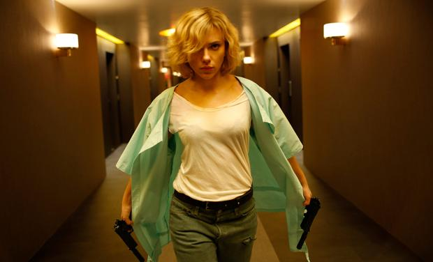 RESISTANCE IS FUTILE: Scarlett Johansson as Lucy is all straight-faced poise while she has her way with the universe