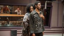 Making music together: Jill Scott as DeeDee and Chadwick Boseman as James Brown in Tate Taylor's biopic Get on Up.