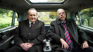 Colm Meaney and Timothy Spall as Martin McGuinness and Ian Paisley Snr