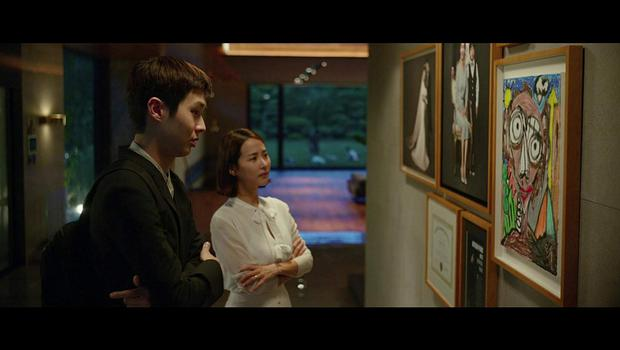 Yeo-jeong Jo and Woo-sik Choi in Parasite