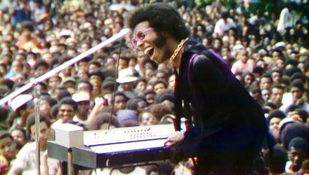 Sly and the Family Stone performs a rousing rendition of Higher at the Harlem Cultural Festival in 1969
