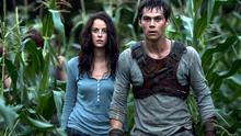 CAUGHT IN A TRAP: Kaya Scodelario and Dylan O'Brien attempt to make their way out of the maze