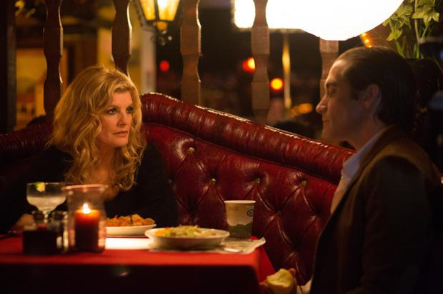 Rene Russo as the news editor and Jake Gyllenhaal as the cameraman in 'Nightcrawler'