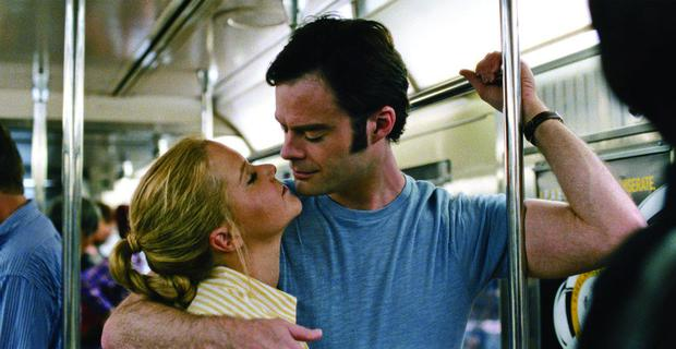 It's complicated: Amy Schumer gets up close and personal with Bill Hader in the romantic comedy Trainwreck