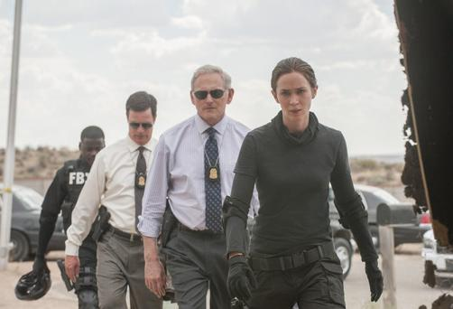 On a mission: Emily Blunt as the by-the-book FBI agent sent to Mexico to escort a drug cartel chief back to the US.
