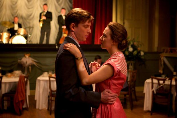 Emotional tale: Domhnall Gleeson and Saoirse Ronan in 'Brooklyn', based on the novel by Colm Toibin.