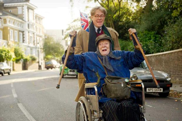 Wildly anarchic: Dame Maggie Smith as Miss Shepherd and Alex Jennings as Alan Bennett in a thoroughly English film