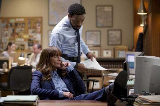Remake: Chiwetel Ejiofor as Ray and Julia Roberts as Jess in 'Secret in Their Eyes', the Hollywood version of the dark thriller.