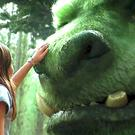 A child comes face-to-face with the titular character Pete's Dragon