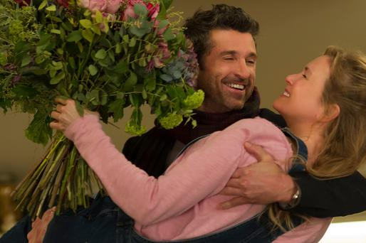 Pagtrick Dempsey and Renee Zellweger in 'Bridget Jones's Baby'