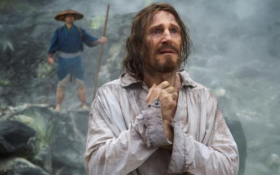 Liam Neeson enjoys the agony and endures the ecstasy in 'Silence'
