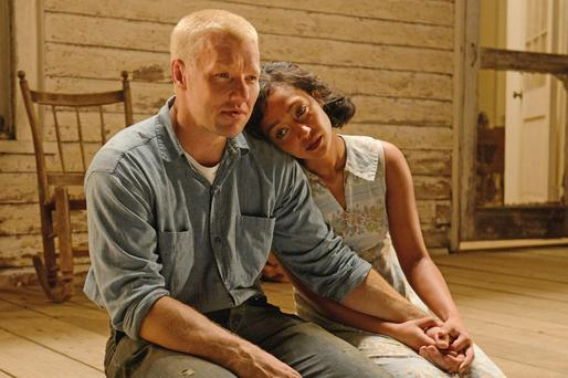 Ruth Negga and Joel Edgerton as Mildred and Richard in 'Loving'