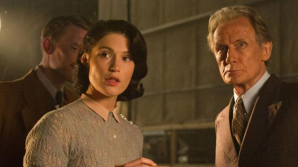 Gemma Arterton and Bill Nighy in a scene from 'Their Finest'