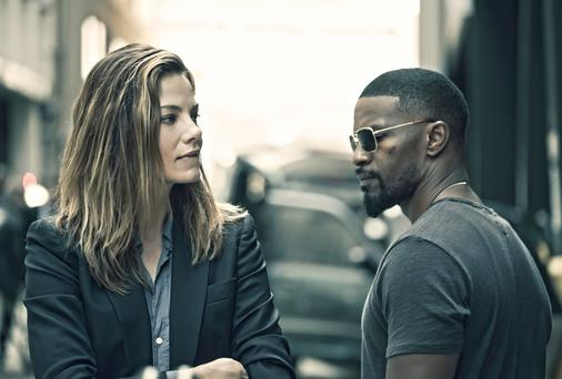 Michelle Monaghan and Jamie Foxx in Sleepless