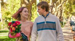 Saoirse Ronan and Lucas Hedges in 'Lady Bird'