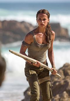 Alicia Vikander as Lara Croft in the latest film version of Tomb Raider