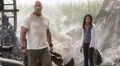 Dwayne 'The Rock' Johnson and Naomie Harris bid to save humanity in 'Rampage'