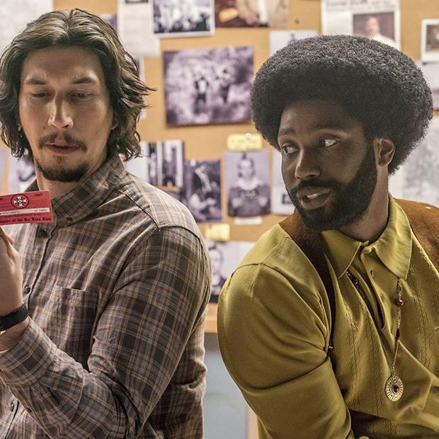 Adam Driver and John David Washington in BlacKkKlansman