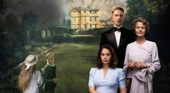 Charlotte Rampling, Domhnall Gleeson, and Ruth Wilson in The Little Stranger
