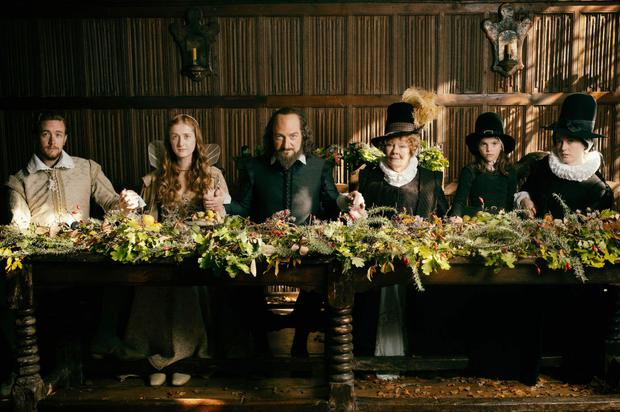 Jack Colgrave Hirst, Kathryn Wilder, Kenneth Branagh, Judi Dench, Eleanor de Rohan, and Lydia Wilson in All Is True