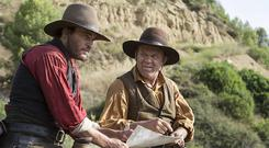 Joaquin Phoenix and John C Reilly in The Sisters Brothers