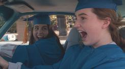 Super smart and very funny ... Beanie Feldstein and Kaitlyn Dever in Booksmart