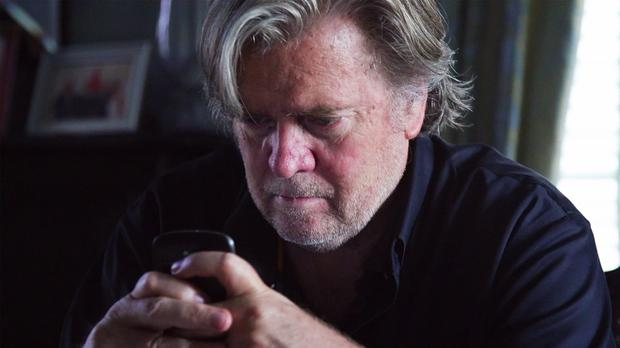 Steve Bannon in a scene from The Brink