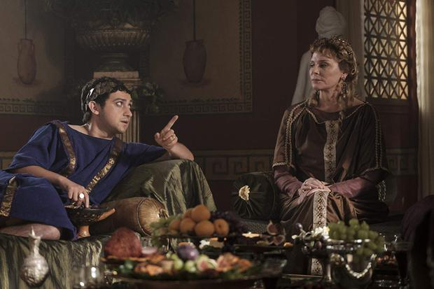 Kim Cattrall and Craig Roberts in Horrible Histories: Rotten Romans The Movie