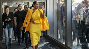Tracee Ellis Ross, flanked by Dakota Johnson and Ice Cube, plays a pop star living off past glories