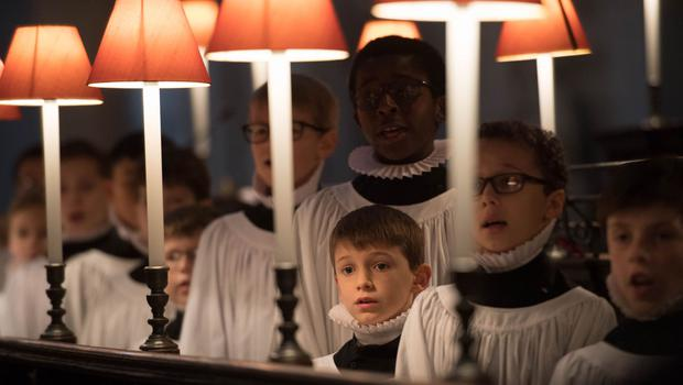 Choristers rehearsing at St Paul's Cathedral before Christmas