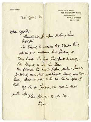 Letter from John Lennon's Aunt Mimi the month after he was assassinated (Tracks Ltd/PA)