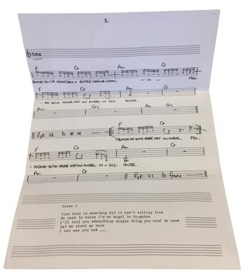 The music for Angel In Disguise (Omega Auctions/PA)