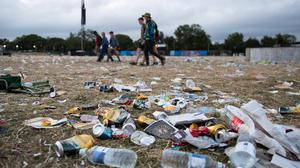 Rubbish left behind at Glastonbury Festival (Aaron Chown/PA)
