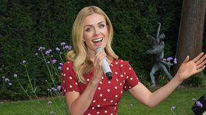 Katherine Jenkins' performance was streamed into 100 care homes across the UK (Dave Benett/Vodaphone UK/PA)